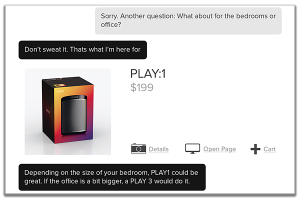 Help customers complete the sale in a chat