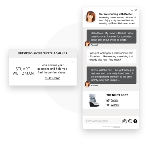 Leverage your brand with a fully integrated live chat interface